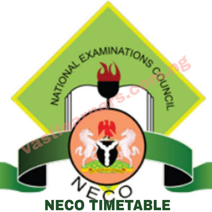 NECO Timetable 2019 June/July