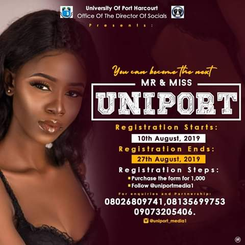 2019 MR AND MISS UNIPORT