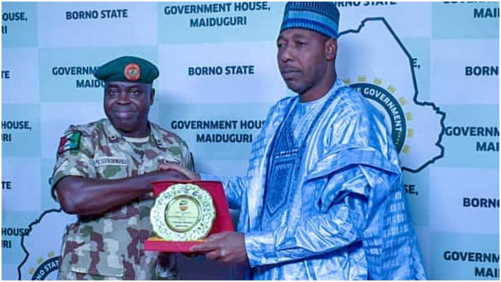 BORNO GOVERNOR RECEIVES