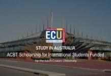 ACBT SCHOLARSHIP INTERNATIONAL STUDENTS IN AUSTRALIA 2020