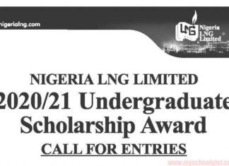 NIGERIA NLNG LIMITED UNDERGRADUATE SCHOLARSHIPS 2020/2021