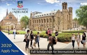 ADELAIDE SCHOLARSHIPS INTERNATIONAL FOR TALENTED INTERNATIONAL STUDENTS 2020