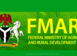 FEDERAL MINISTRY OF AGRICULTURE AND RURAL DEVELOPMENT RECRUITMENT 2020