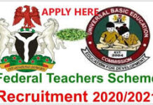 FEDERAL TEACHERS RECRUITMENT 2020/2021 OVER 300 000 JOB APPLY NOW