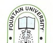 FOUNTAIN UNIVERSITY RECRUITMENT APPLICATION FORM OUT 2021