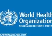 HUMAN RECOURCES OFFICER RECRUITMENT AT WORLD HEALTH ORGANIZATION ABUJA 2021