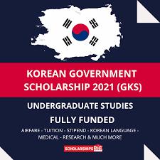 KOREAN GOVERNMENT SCHOLARSHIP 2021/2022 UNDERGRADUATE FORM OUT