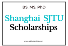 SHANGHAI JIAO TONG UNIVERSITY SCHOLARSHIP APPLICATION FORM OUT 2021/2022