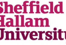 SHEFFIELD HALLAM UNIVERSITY 2021 SCHOLARSHIP APPLICATION FORM OUT
