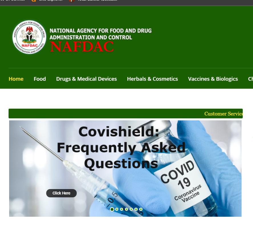 NAFDAC RECRUITMENT PORTAL 2021 APPLICATION FORM OUT