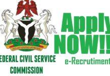 FEDERAL CIVIL SERVICE RECRUITMENT 2021 JULY APPLICATION UPDATE
