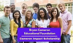 BRYAN CAMERON SCHOLARSHIP 2021 APPLICATION PORTAL OPEN