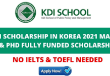 KDIS SCHOLARSHIP 2021 FOR INTERNATIONAL STUDENTS APPLY NOW