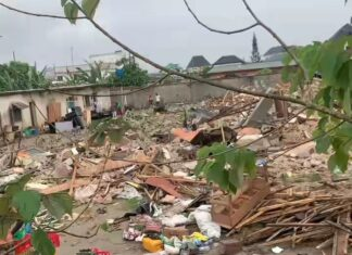 VIDEO OF LAGOS GOVERNMENT DEMOLISHING HOTEL WHILE STUDENTS INSIDE